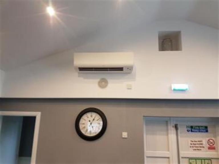 Air conditioning install in a function room